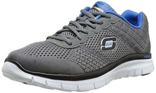 Skechers Flex Advantage Covert Action, Low-Top Sneaker uomo, Grigio (CCBL), 43