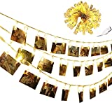 chrislz Foto Clip Lichterkette 30 Foto Clips 3 m LED Bild Licht Weihnachten Beleuchtung Starry Licht Wand Hochzeit Party Dekoration Light USB Lichterkette, 30LED