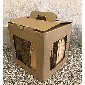 Paquete de leña con 10 kg de leña, 100% de haya alemana para estufas, hornos, hogueras, cuencos para fuego, perfecto…