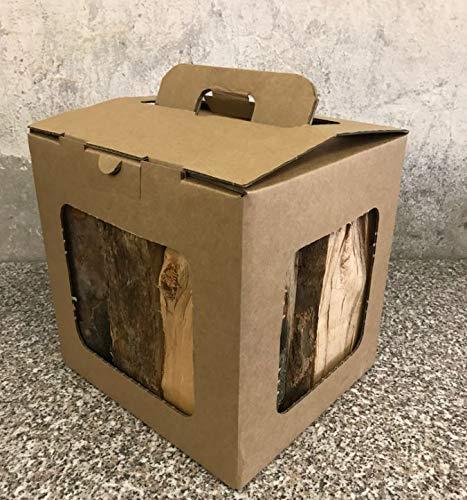 Paquete de leña con 10 kg de leña, 100% de haya alemana para estufas, hornos, hogueras, cuencos para fuego, perfecto también como regalo, gracias a su práctica asa