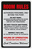 #4: Inephos Room Rules Poster | Funny Posters for Room (12 x 18 inch)