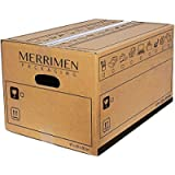 10 MERRIMEN Heavy Duty Double Wall Cardboard Moving and Storage Boxes with Handles (10pk 39 Litre, 26 x 32 x 47 cm)