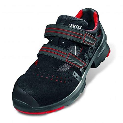 uvex1 Sicherheitssandale 8536 S1P SRC 43 Schwarz/Rot Schwarz/Rot