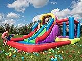 BeBoP Aire de Jeux Gonflable et Toboggan Aquatique Total Wipeout pour Jardin de