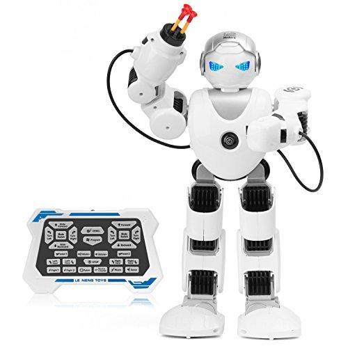 Zooawa Fernbedienung Alpha Roboter, Intelligente Programmierbare Humanoid RC Spielzeug für Kinder - Weiß
