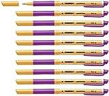 Tintenroller - STABILO pointVisco - 10er Pack - lila