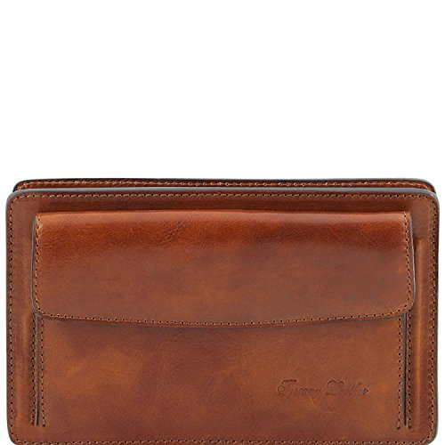 Tuscany Leather Denis - Esclusivo borsello a mano in pelle - TL141445 (Nero) Miele