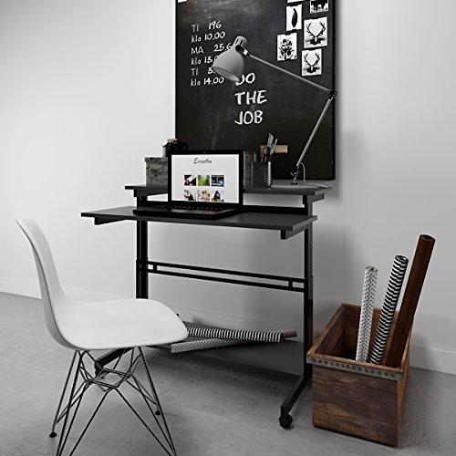 Get DEVAISE Mobile Height Adjustable Standing Desk, Black Online