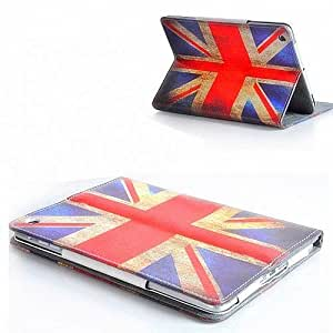 Apple Retro Vintage Union Jack PU Leather Wallet Flip Case Cover for The New iPad 2 3 and 4 Full Sleep Wake Function ! Free Screen Protector