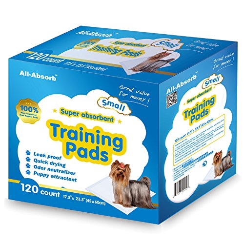 All-Absorb-120-Count-Training-Pad-45cm-x-60cm-White-and-Blue