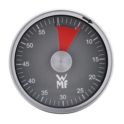 WMF Kurzzeitmesser magnetisch, Cromargan Edelstahl, Eieruhr mit 60 Minuten, Restzeitanzeige, akustischer Alarm