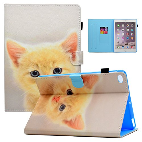 dteck iPad 24,6cm 2017Case/iPad Air 2/iPad Air Fall-PU Leder Mehrwinkel Folio Ständer Smart Case mit Auto Sleep/Wake-Funktion für Apple iPad 2017Modell, iPad Air 12, Raumfahrt 03 Cat -