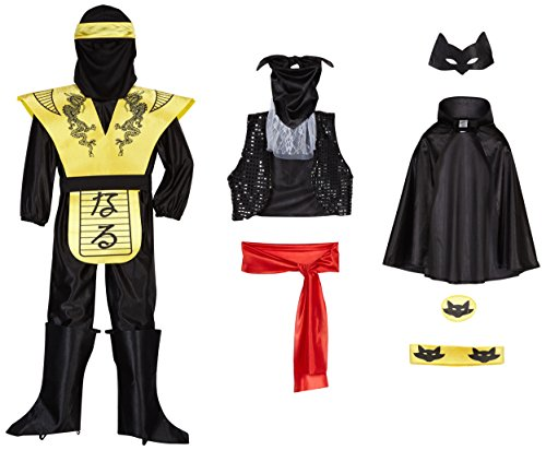Zorro Kostüm (LIBROLANDIA 10060 ZORRO-NINJA KOSTÜM BATMAN, 4/6 TRE IN)