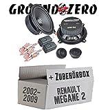 Renault Megane 2 - Ground Zero GZIC 13X Kompo - 13cm Lautsprecher System - Einbauset