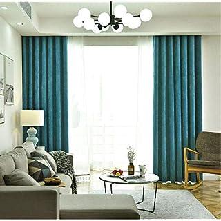 Einfarbige Gardinen, Das Schwarze Dunkelzimmer-Fenster Der Wohnzimmerwohnung Zieht Moderne Nordische Dicke Samtvorhangplatten 1 Pcs Auf-a W350*h270cm(138 * 106inch)