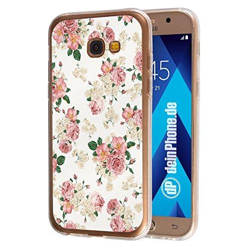 deinPhone Samsung Galaxy A5 (2017) Silikon Hülle Case Blumengesteck Weiß