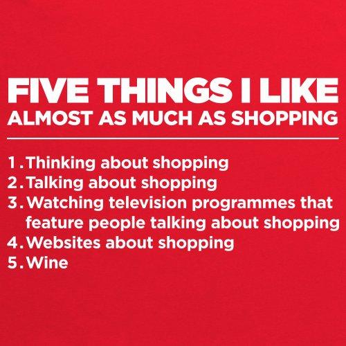 Five Things I Like - Shopping T-Shirt, Damen Rot