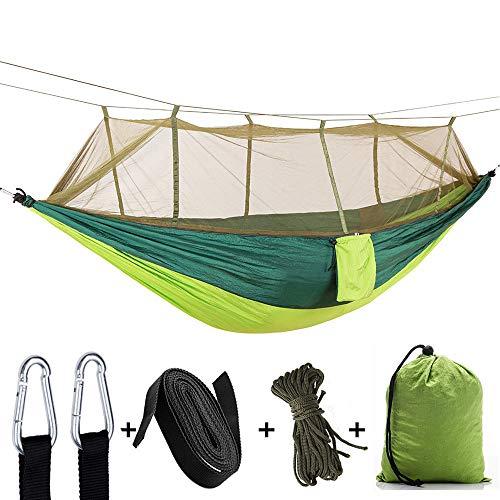 WJQ Outdoor Fallschirm Tuch Hängematte Camping Luft Zelt Dschungel Ausrüstung, robust und komfortabel atmungsaktiv stark tragend perfekt und einfach zu tragen