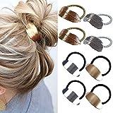 8 Stücke Pferdeschwanzhalter für Frauen Mädchen, Metall Elastische Haarsträhnen Wickelseil Damenkopf Accessoires Geschenk