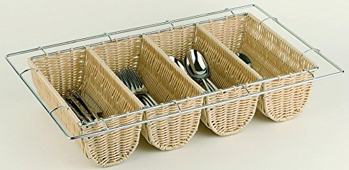 APS CB674 Rattan Cutlery Dispenser