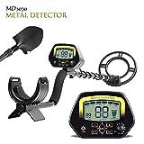 TOPQSC MD3030 - Detector de Metales (Pantalla LCD de Color Dorado y bajo el Agua Poco Profunda)
