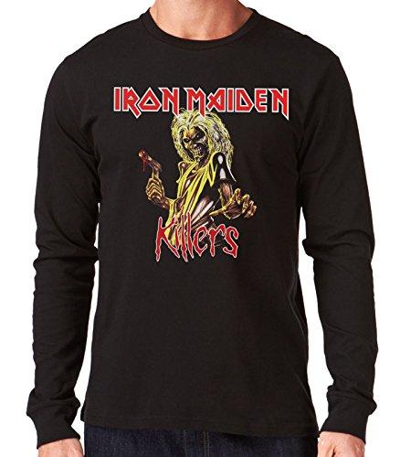 35mm - Camiseta Hombre Manga Larga - Iron Maiden - Killers - Long Sleeve Man Shirt, NEGRA, XL