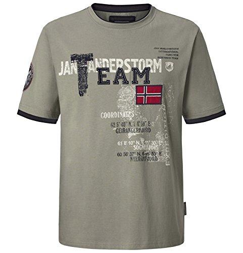 Jan Vanderstorm Herren T-Shirt Sölve in Übergröße | Große Größen | Plus Size | Big Size | Gr. EU 56/58 | Farbe Olive (Große Winter-outdoor-flags)