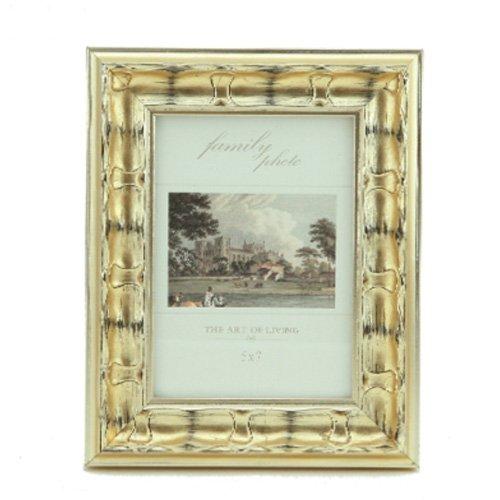 SQZH 6 pollici da 7 pollici a 10 pollici di oro e argento telaio in legno Tabella di combinazione classica europea photo frame