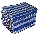 Gryeer 8er-Set Bambus und Microfaser Geschirrtücher, super weiche, saugfähige und antibakteriell Küchentücher, 45 x 65cm (Blau)