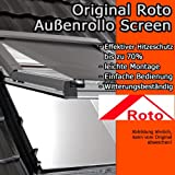 Roto Original Außenrollo Screen ZAR, Rollo für Fenstertyp R75/R78, Fenstergröße 6/9, WDF KAW HAN KEW