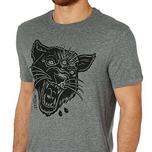 Element T-shirts - Element 3 Eyed Panther T-shirt - Grey Heather Grey