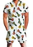 Chicolife hombre Hombre Camisetas de manga corta con la carga cortocircuitos de la playa refrescan mameluco del mono de los guardapolvos del X-Grande