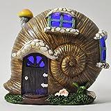 Jardín de hadas Reino Unido caracol Shell Decoración de Casa Jardín mística interior luz LED–funciona con pilas elfo Pixie casa 10cm