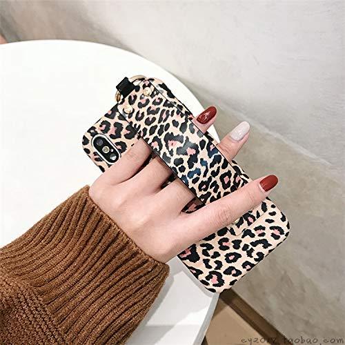 GUYISJK iPhone-Handyhülle Mobile Shell Persönlichkeit Leopard Armband Silikon Soft Case All Inclusive Drop Schutzdeckel, 6 6 S Armband Mit Schwarzer Pulverbeschichtung, Leopard Print (Case 6 Iphone Prints Mit Plus)