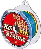 WFT KG STRONG 600m 0,25mm 39kg, geflochtene Schnur, Meeresschnur, Angelschnur, Geflechtschnur, Farbe:multicolor
