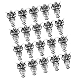 #9: Generic 20pcs Antique Silver Owl Animal Charms Pendants Connector Jewelry DIY