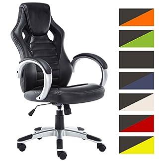 CLP Silla Gaming/Silla de oficina CHAMP, asiento de LUJO ajustable en altura con un revestimiento de cuero sintético