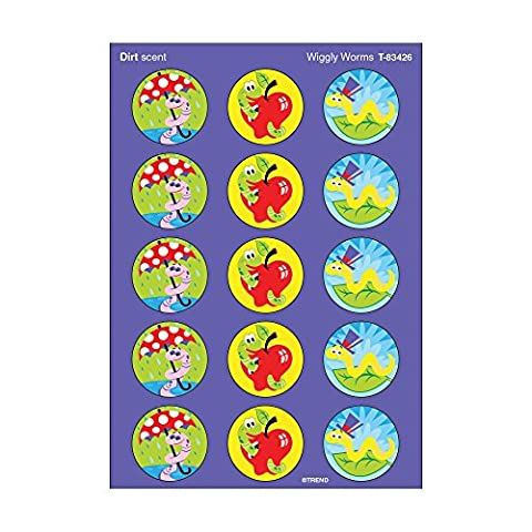 60 x Wiggly Worms Stinky Stickers (Dirt Scented)