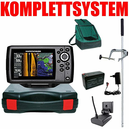 Humminbird Echolot GPS Portabel Master Plus Helix 5 Chirp GPS SI G2 Side Imaging Side Imaging Sonar