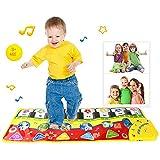 Pawaca Touch Play Tastatur, Klavier Matte Berührungsempfindliche Musikmatte Kinder Musikteppich Baby Frühe Bildung Musik Piano Decke Tiermuster für Kinder Baby Spielzeug Geschenk