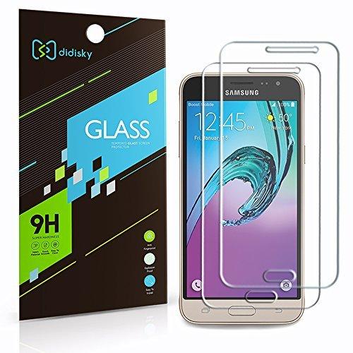 Galleria fotografica Didisky® Pellicola Protettiva in Vetro Temperato per Samsung Galaxy J3 2016 [Tocco Morbido ] Facile da Pulire, Facile da installare, Garanzia a Vita [2 Pezzi ]