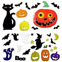 Atlona - Halloween Window Stickers, 4 Sheets, Halloween Gel Clings