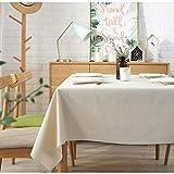 ERIOINP Nappe Rectangulaire Nappe Essuyable Lavable Nappe Tissu Toile Lavable Preuve pour Couvre La Table À Manger Party Table Cloths-White,90 * 90cm(35.4 * 35.4inch)