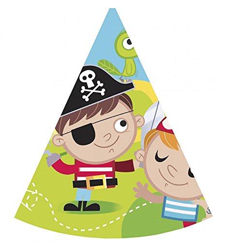 Procos - Sombreros de papel Pirates Treasure Hunt, 6 unidades, multicolor, PR88257