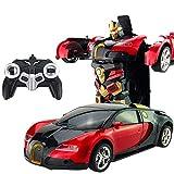 LayOPO Remote Control Car, Dual Mode 360° Rotante Veicolo radiocomandato Toy Transforming RC Stunt Car Robot deformazione con Un Bottone per Bambini Ragazzo Ragazza Regali di Compleanno Red