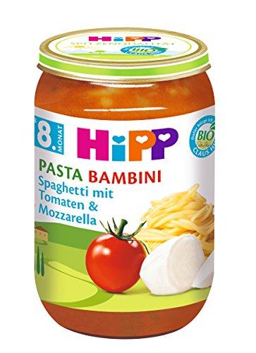 HiPP Pasta Bambini - Spaghetti mit Tomaten und Mozzarella, 6er Pack (6 x 220 g)