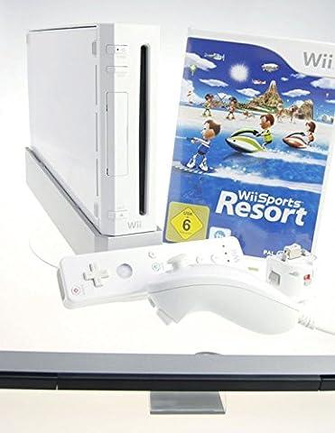 Nintendo Wii Konsole in weiss mit Wii Sports Resort und Motion Plus Adapter
