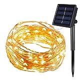 InnooLight 200er LED Solar Kupferdraht Lichterkette Warmwei? & Hellgelb 20 Meter, mit 1,5 Meter Zuleitung, Wasserdichte Solar Au?en Sternen...