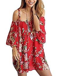 Womens Beachwear Swimwear Bikini Beach Wear Cover up Kaftan Shirt (red)