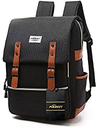 Vintage Laptop Backpack ,15 Inch Laptop Backpack Puersit Durable Business College Travel Daypacks